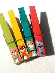 clothespin cats